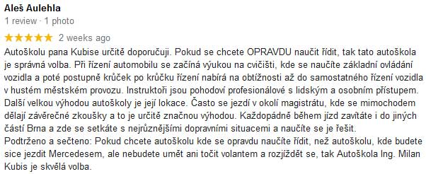 hodnoceni autoskola kubis Autoškola Brno Ing.Kubis