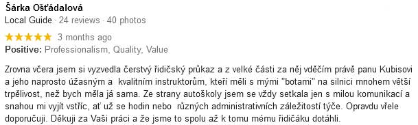 hodnoceni autoskola kubis2 Autoškola Brno Ing.Kubis