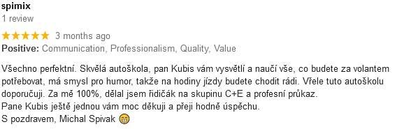 hodnoceni autoskola kubis3 Autoškola Brno Ing.Kubis